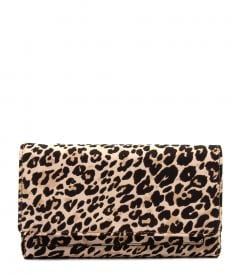 LENA WALLET DF LEOPARD FABRIC