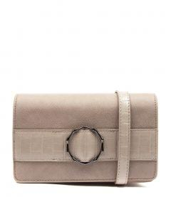 RINGWELL CLUTCH DF TAUPE TAUPE CROC SMOOTH