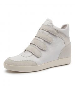 AYLSA WHITE SUEDE-LEATHER